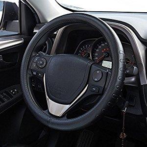 de piel aut/éntica para atar en el volante Cubierta de volante